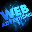 Stock Photo: Web Advertising on Dark Digital Background.
