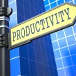 Stock Photo: Productivity Word on Yellow Roadsign.