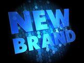 New Brand on Dark Digital Background. — Stock Photo