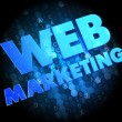 Stock Photo: Web Marketing on Dark Digital Background.