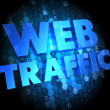Web Traffic on Dark Digital Background. — Stock Photo