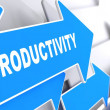 Stock Photo: Productivity Word on Blue Arrow.