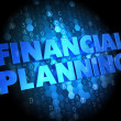 Financial Planning on Dark Digital Background. — Stock Photo