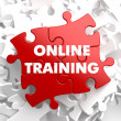 Online Training on Red Puzzle. — Stock Photo #39213835