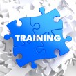 Training on Blue Puzzle. — Stock Photo #39215387