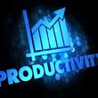Stock Photo: Productivity on Dark Digital Background.