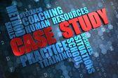 Case Study. Wordcloud Concept. — Stock Photo