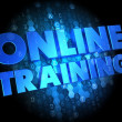 Online Training on Dark Digital Background. — Stock Photo #39240347