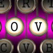 Old Typewriter's Keys with Love Slogan. — Stock Photo #39581861