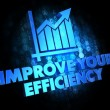 Stock Photo: Improve Your Efficiency on Digital Background.