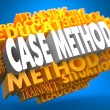 Stock Photo: Case Method on Yellow WordCloud.