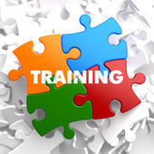 Training on Multicolor Puzzle. — Foto Stock