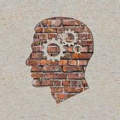 Psychological Concept on the Brick Wall. — Stock Photo