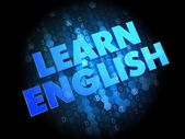 Learn English on Dark Digital Background. — Stock Photo