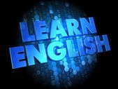 Learn English on Digital Background. — Stock Photo