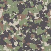 Woodland Camouflage. Seamless Tileable Texture. — Stock Photo