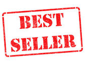 Bestseller on Red Rubber Stamp. — Foto de Stock