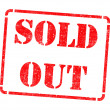 Sold Out on Red Rubber Stamp. — Stock Photo #40321325
