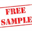 Free Sample - Inscription on Red Rubber Stamp. — Stock Photo #40321427