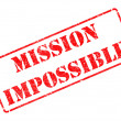 Mission Impossible - Red Rubber Stamp. — Stock Photo #40321467
