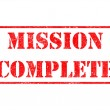 Постер, плакат: Mission Complete Red Rubber Stamp