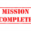 Mission Complete - Red Rubber Stamp. — Stock Photo #40321505