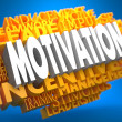 Stock Photo: Motivation - Wordcloud Concept.
