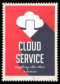 Cloud Service Concept on Red in Flat Design. — Stock Photo