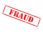 Fraud - Inscription on Red Rubber Stamp. — Stock Photo