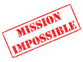 Mission Impossible - Red Rubber Stamp. — Stock Photo