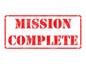 Mission Complete - Red Rubber Stamp. — Stock Photo