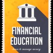 Stock Photo: Financial Education on Yellow in Flat Design.