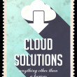 Cloud Solutions on Light Blue in Flat Design. — Stock Photo #40359347