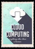 Cloud Computing on Light Blue in Flat Design. — Stock Photo