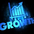 Stock Photo: Growth Concept on Dark Digital Background.