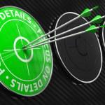 Постер, плакат: Focus on Details Slogan Green Target