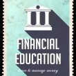 Stock Photo: Financial Education on Light Blue in Flat Design.