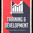 Stock Photo: Training and Development on Red in Flat Design.