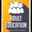 Adult Education on Yellow in Flat Design. — Stock Photo #41106741