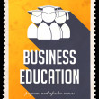 Stock Photo: Business Education on Yellow in Flat Design.