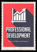 Professional Development on Red in Flat Design. — Stock Photo