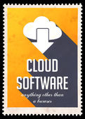 Cloud Software on Yellow in Flat Design. — Stock Photo