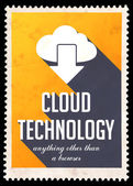 Cloud Technology on Yellow in Flat Design. — Stock Photo