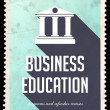 Stock Photo: Business Education on Blue in Flat Design.