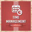 Time Management Concept in Flat Design. — Стоковое фото