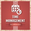 Time Management Concept in Flat Design. — Stockfoto #41144959