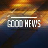 Good News Concept on Retro Triangle Background. — Stock Photo