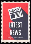 Nejnovější zprávy na červenou v plochý design. — Stock fotografie