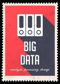 Big Data on Red in Flat Design. — Stock Photo