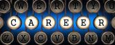 Career on Old Typewriter's Keys. — Stock Photo
